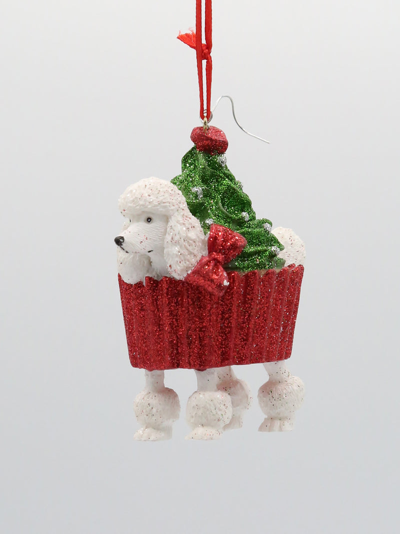 Poodle Barkery Dog Ornament 3""
