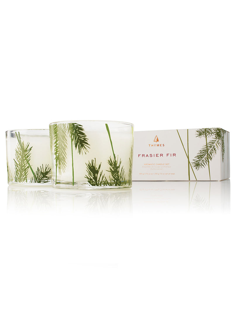 Frasier Fir Candle Set Pine Needle Design