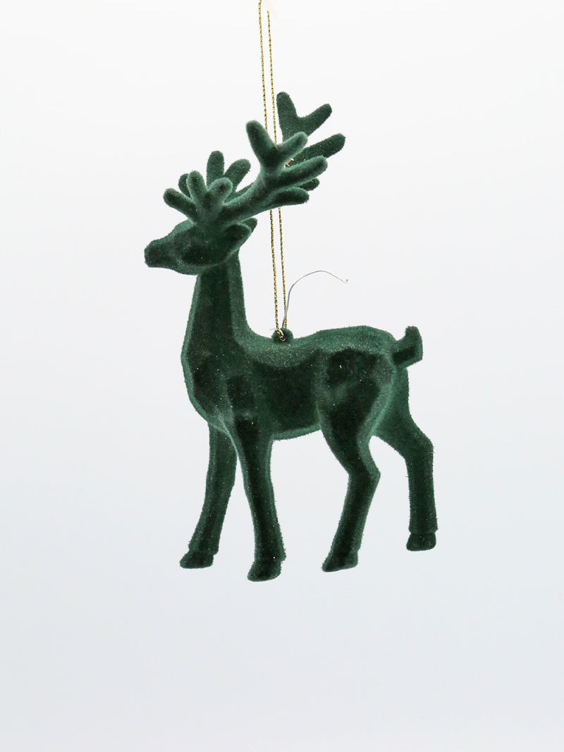 Green Geometric Deer Ornament