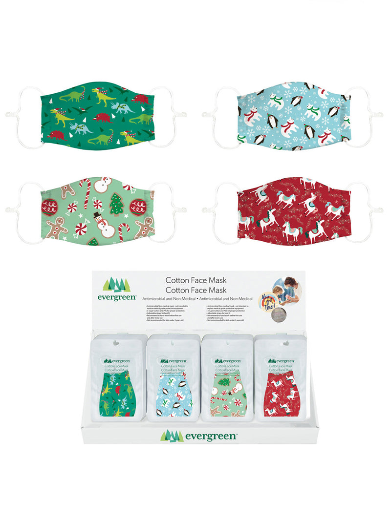 Kids Cotton Face Mask Holiday