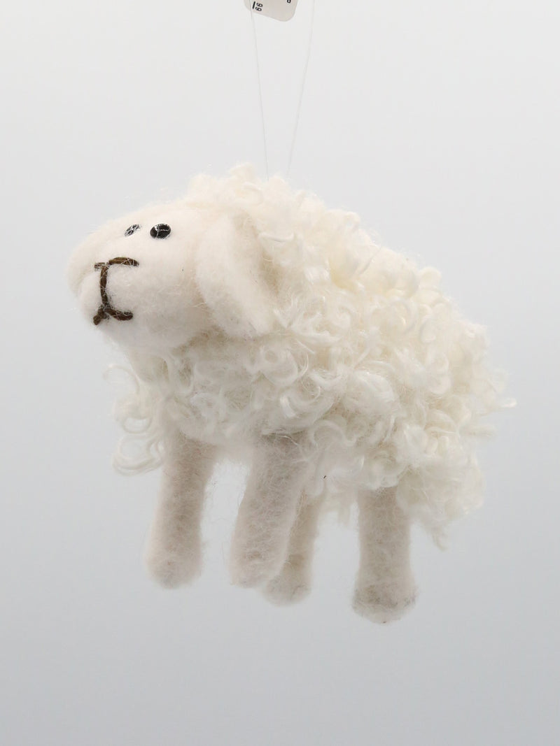 White Sheep Ornament 4""