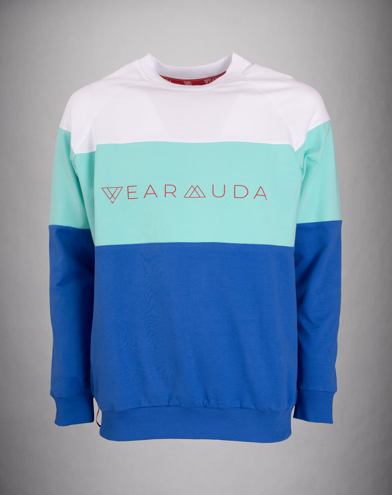 White Mint Blue Longsleeve