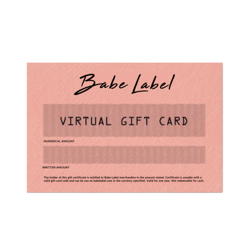 Babe Label Virtual Gift Card - Shop Now