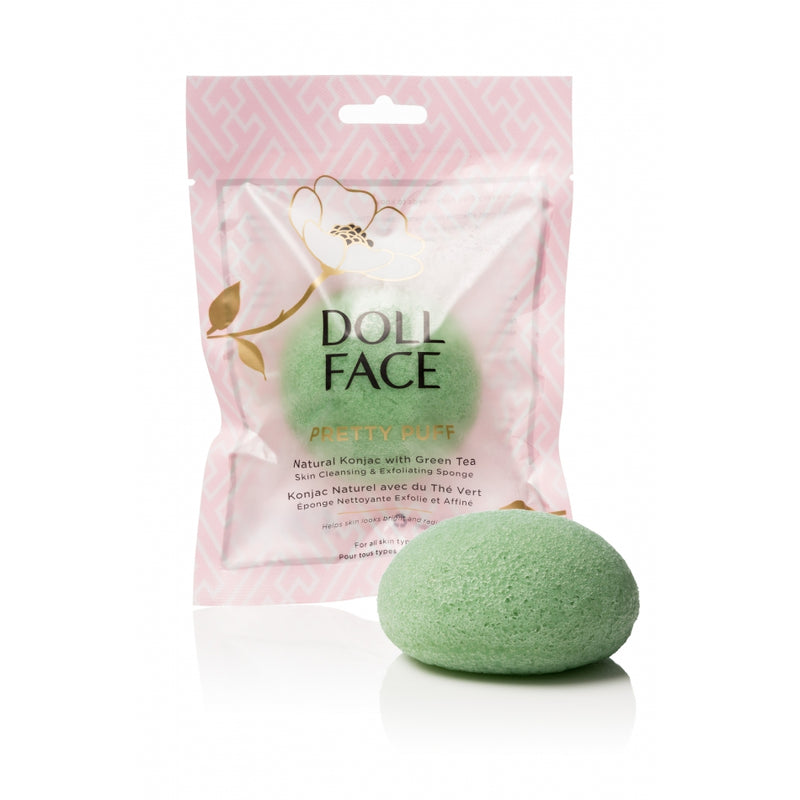 PRETTY PUFF KONJAC FACIAL SPONGE - GREEN TEA