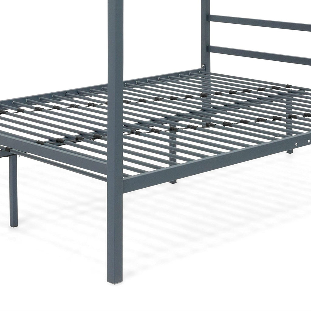 048ac4569959 Queen size Grey Metal Platform Bed Frame with Canopy – The Furniture ...