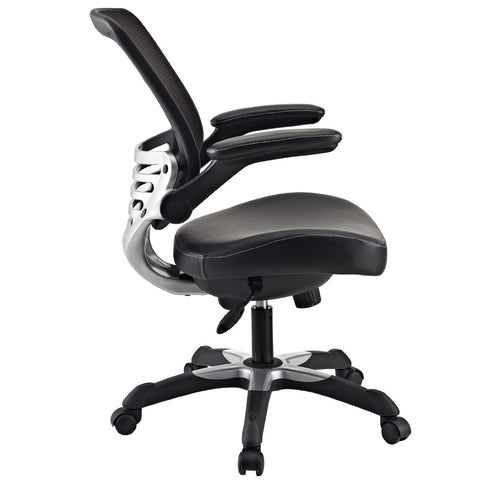 Modern Black Mesh Back Ergonomic Office Chair With Flip Up Arms