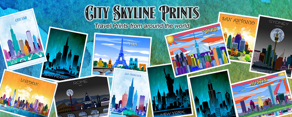 Watercolor Travel Prints