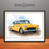1955 Chevrolet BelAir Muscle Car Art Print - UNFRAMED