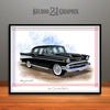 Black 1957 Chevrolet BelAir Art Print by Rudy Edwards