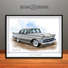 Sliver 1957 Chevrolet BelAir Art Print by Rudy Edwards