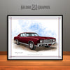 Black Cherry 1970 Monte Carlo Muscle Car Art Print By Rudy Edwards