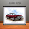 Black Cherry and Black 1970 Chevrolet Monte Carlo Muscle Car Art Print by Rudy Edwards