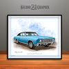 "1970 Chevrolet Monte Carlo Muscle Car Art Print - 16"" X 20"" UNFRAMED"