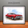 Cranberry 1970 Monte Carlo Muscle Car Art Print By Rudy Edwards