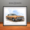 Gold and Black 1970 Chevrolet Monte Carlo Muscle Car Art Print by Rudy Edwards