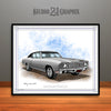 Silver and Black 1970 Chevrolet Monte Carlo Muscle Car Art Print by Rudy Edwards