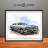 Silver 1970 Monte Carlo Muscle Car Art Print By Rudy Edwards