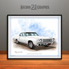White 1970 Monte Carlo Muscle Car Art Print By Rudy Edwards