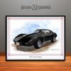 Black 1976 Chevrolet Corvette Muscle Car Art Print by Rudy Edwards