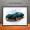 Green 1976 Chevrolet Corvette Muscle Car Art Print by Rudy Edwards