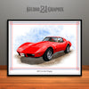Red 1976 Chevrolet Corvette Muscle Car Art Print by Rudy Edwards