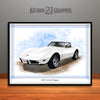 White 1976 Chevrolet Corvette Muscle Car Art Print by Rudy Edwards