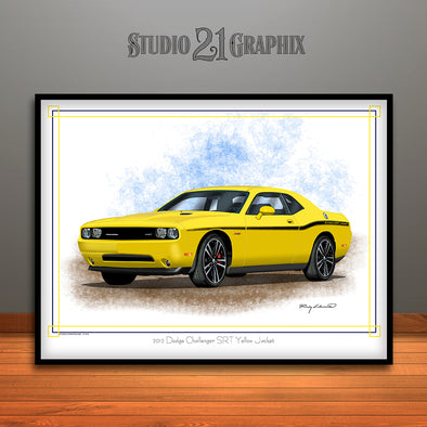 2012 Dodge Challenger SRT Yellow Jacket Art Print