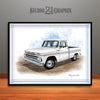 1960's Chevrolet C10 Pickup Truck Art Print, White