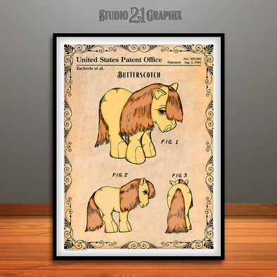 My Little Pony, Butterscotch, Colorized Patent Print