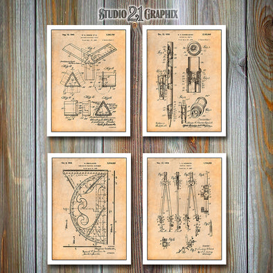 Architect Tools Patent Prints Set of 4