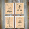 Billiards Set Of 4 Patent Prints, Pool