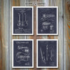 Fender Patent Set Of Four Guitar Prints