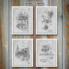 Henry Ford Patent Prints Set Of 4, Ford Gift, Ford Motors