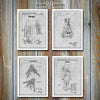 NASA Set Of 4 Patent Prints, Space Shuttle, Astronaut Art
