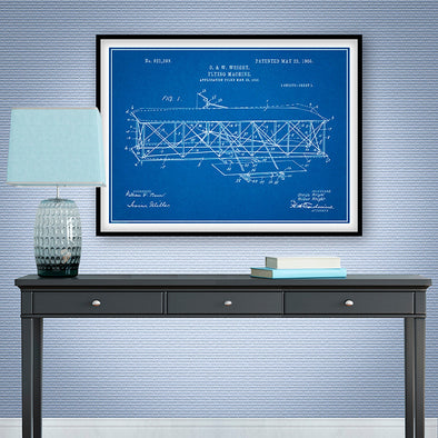 1906 Wright Brothers Flying Machine Patent Print - UNFRAMED