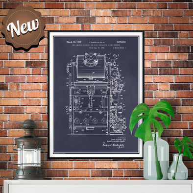 1934 Dry Cleaning Apparatus Patent Print - UNFRAMED