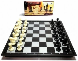 Chess - Folding Magnetic Board Black & White 25cm