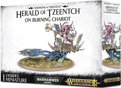 Age of Sigmar Herald of Tzeentch on Burning Chariot 97-20