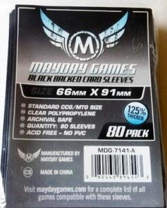 Mayday Games Standard Card Sleeves (80) - 66 x 91 mm - Black Backed