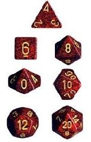 Dice Set Speckled Mercury (7)