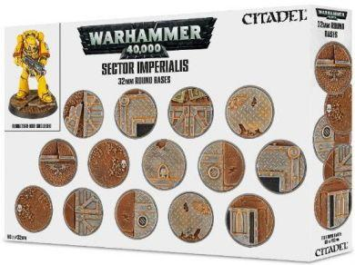 Games Workshop Hobby: Sector Imperialis 32mm Round Bases 66-91