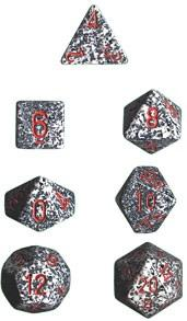 Dice Set Speckled Granite (7)