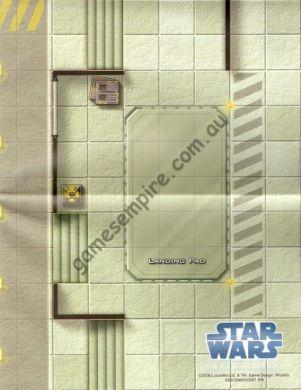 Star Wars Miniatures Double Sided Map from the Clone Wars Scenario Pack