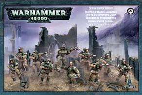 Warhammer 40K Imperial Guard: Cadian Infantry Squad Shock Troops (10 models) 47-17