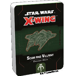 Star Wars X-Wing 2nd Edition Scum and Villainy Damage Deck