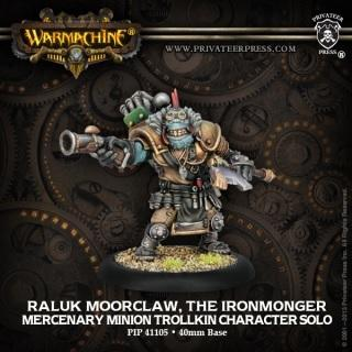 Warmachine Mercenaries Raluk Moorclaw, the Ironmonger ON SALE