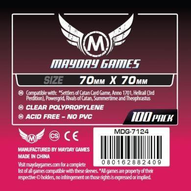 Mayday Games 70 X 70 mm - 100 Pack Small Square Card Sleeves