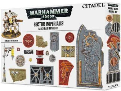 Games Workshop Hobby: Sector Imperialis Large Base Detail Kit On Sale