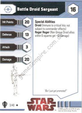 Star Wars Miniatures Galaxy at War 03 Battle Droid Sergeant