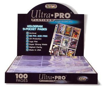 Ultra Pro 9 Pocket Page Platinum Series Box of 100